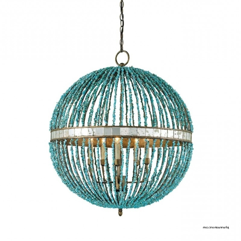 Turquoise Beaded Chandelier Light Fixtures With Regard To 2018 Sconce And Chandeliers Turquoise Beaded Chandelier Light Fixture (View 9 of 10)