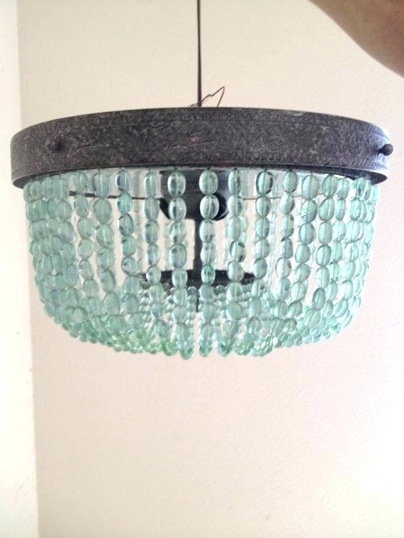 Turquoise Beaded Chandelier Turquoise Beaded Chandelier Light With Well Known Diy Turquoise Beaded Chandeliers (View 4 of 10)