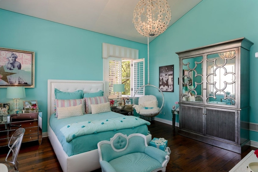 Turquoise Bedroom Chandeliers Intended For Best And Newest Turquoise Girls Bedroom Ideas Memsaheb Pertaining To Elegant House (View 6 of 10)