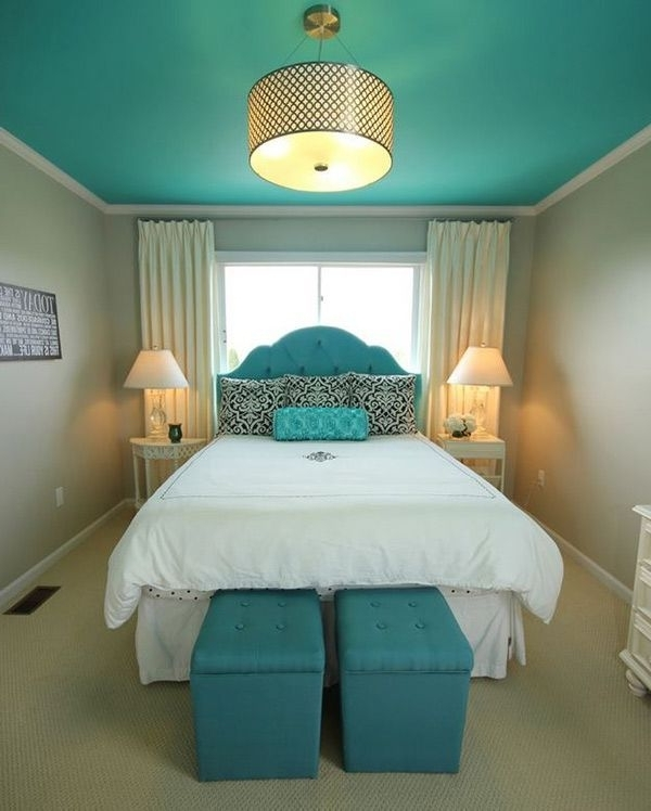 Turquoise Bedrooms, Neutral (View 8 of 10)