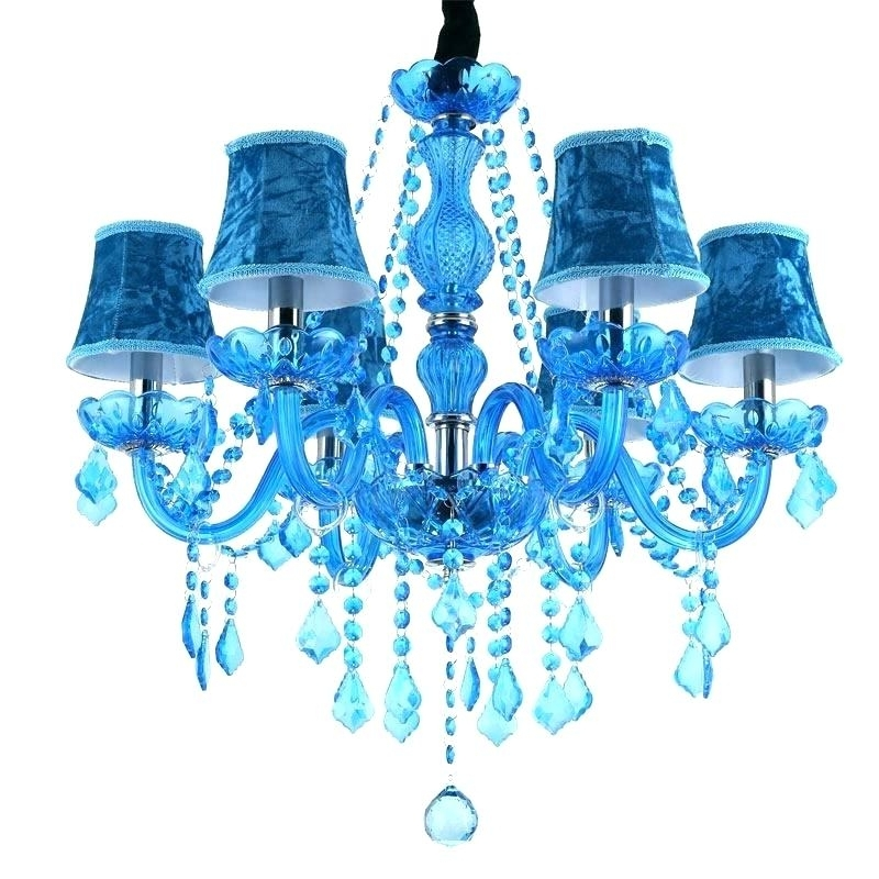 Turquoise Chandelier Light Also Turquoise Chandelier Turquoise With Most Recently Released Turquoise Chandelier Lamp Shades (View 9 of 10)