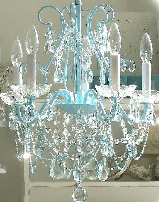 Turquoise Chandelier Light Plus Interior Design Ideas For Girls With Popular Turquoise Bedroom Chandeliers (View 9 of 10)