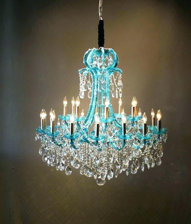 Turquoise Chandelier Light Turquoise Chandelier Crystals Turquoise Intended For Recent Turquoise Chandelier Crystals (View 9 of 10)