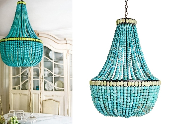 Turquoise Chandeliers – Decoholic Pertaining To Trendy Turquoise Empire Chandeliers (View 3 of 10)