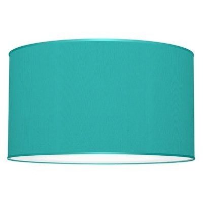 Turquoise Drum Chandeliers Intended For Trendy Seascape Lamps Tryptic 3 Light Drum Pendant Shade Color: Turquoise (View 5 of 10)
