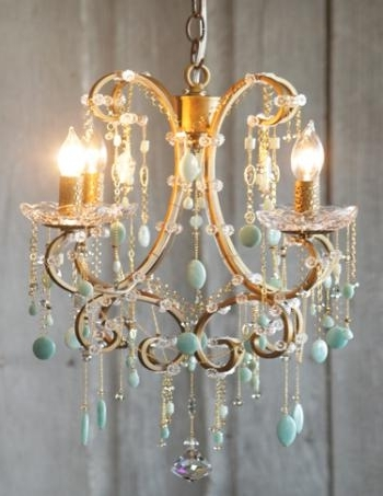 Turquoise Gem Chandelier Lamps For Favorite Semi Precious Stone Chandelier (View 8 of 10)
