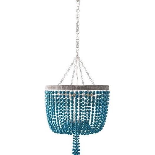 Turquoise Mini Chandeliers Regarding Well Known Beaded Four Light Mini Chandelier (View 7 of 10)