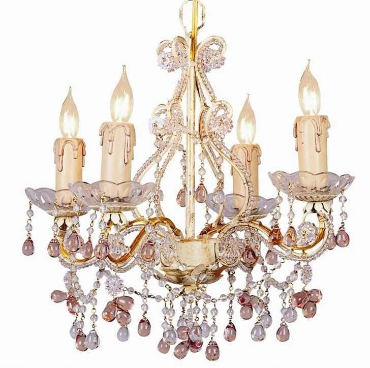 Turquoise Mini Chandeliers With Regard To Well Known Fascinating Lights Mini Chandelier W Crystal Multi Colored Rosette (View 8 of 10)