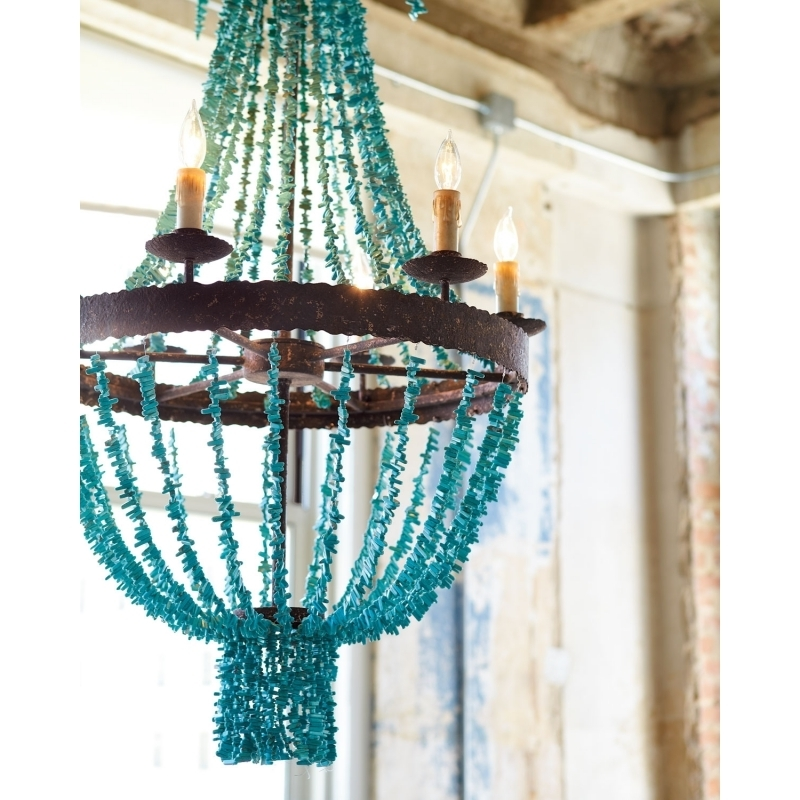 Turquoise Stone Chandelier Lighting – Chandelier Designs In Best And Newest Turquoise Gem Chandelier Lamps (View 3 of 10)