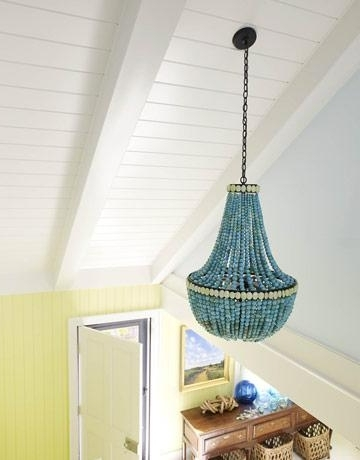 Turquoise Stone Chandelier Lighting Pertaining To Well Known Turquoise Stone Beaded Chandelier (View 9 of 10)
