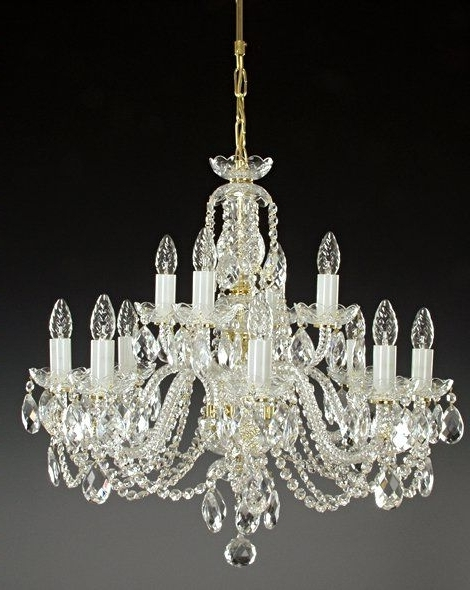 Two Tier Lead Crystal Chandelier (View 10 of 10)