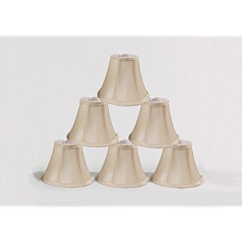 "Urbanest Chandelier Lamp Shades, Set Of 6, Soft Bell 3""x 6""x 5 For Trendy Chandelier Lamp Shades (Gallery 5 of 10)"