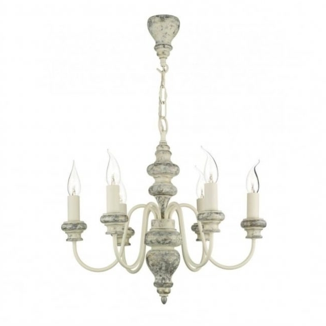 Verona Distressed Cream Ceiling Light ( Large Cream Chandelier #2 Pertaining To Current Large Cream Chandelier (View 9 of 10)