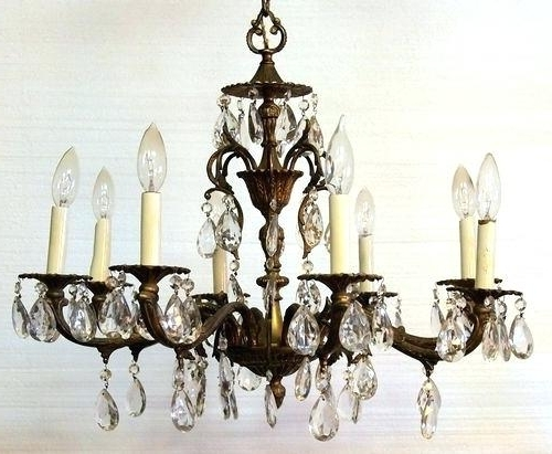 Vintage Brass Chandeliers Regarding Most Current Antique Brass Chandelier Vintage Brass Chandeliers Sale – Pinkfolio (View 8 of 10)
