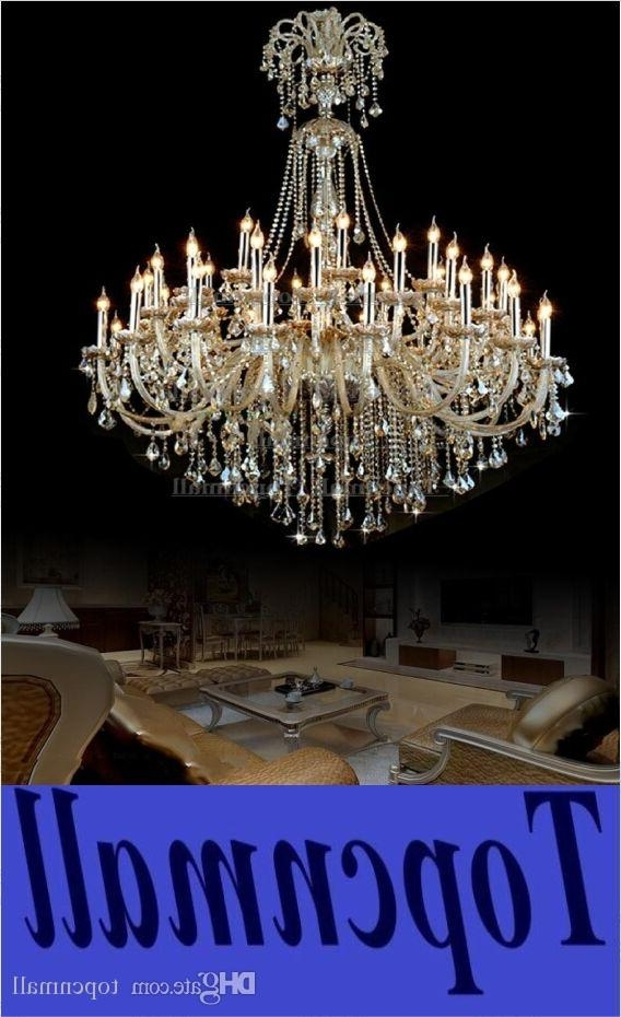 Vintage Extra Large Crystal Chandelier Entryway Antique Huge French In Widely Used Huge Crystal Chandeliers (View 9 of 10)