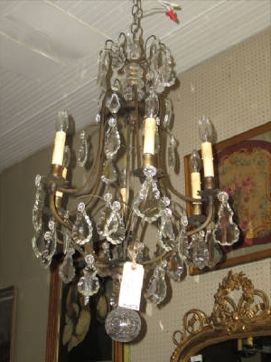 Vintage French Chandeliers Intended For Well Known Antique French Chandelier French Chandelier Antique Antique Crystal (View 6 of 10)