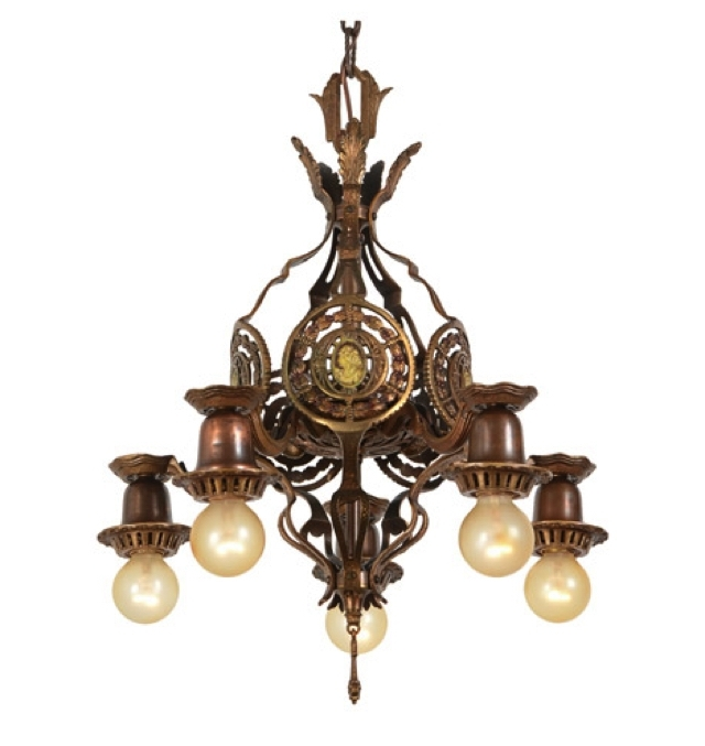 Vintage Industrial Style In Antique Chandeliers (View 6 of 10)