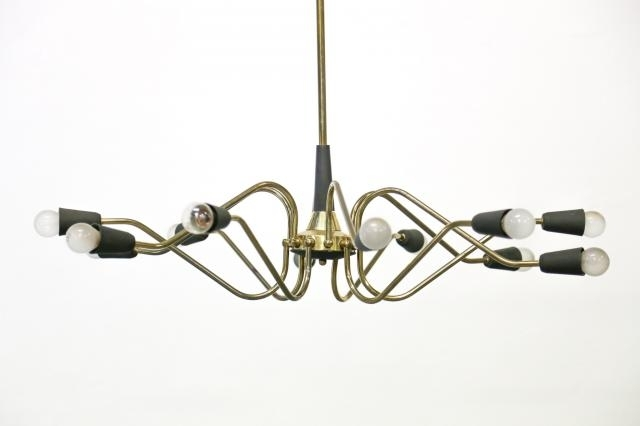 Vintage Italian Chandelier From Stilnovo For Sale At Pamono Intended For Most Recently Released Vintage Italian Chandelier (View 9 of 10)