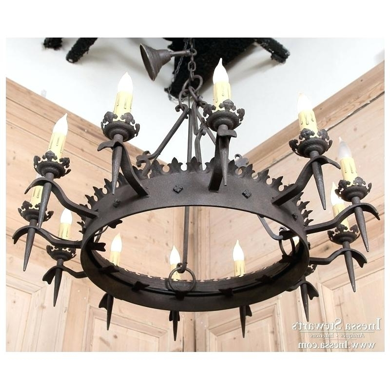 Vintage Wrought Iron Chandelier With Widely Used Antique Wrought Iron Chandelier Vintage Wrought Iron Chandelier (View 8 of 10)