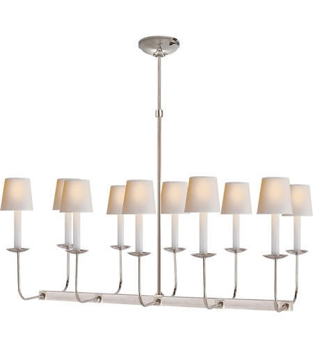 Visual Comfort Sl5863Pn E. F. Chapman Linear Branched 10 Light 36 For Best And Newest Branched Chandelier (Gallery 1 of 10)