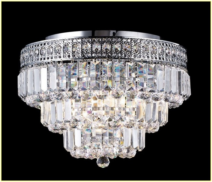 Wall Mount Crystal Chandeliers With Widely Used Mia Faceted Crystal Flushmount Pottery Barn In Flush Mount Light (View 8 of 10)