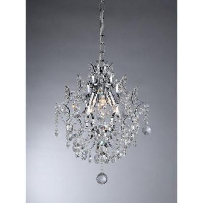 Warehouse Of Tiffany Ellaisse 3 Light Chrome Crystal Chandelier Intended For 2018 Chrome And Crystal Chandeliers (View 9 of 10)