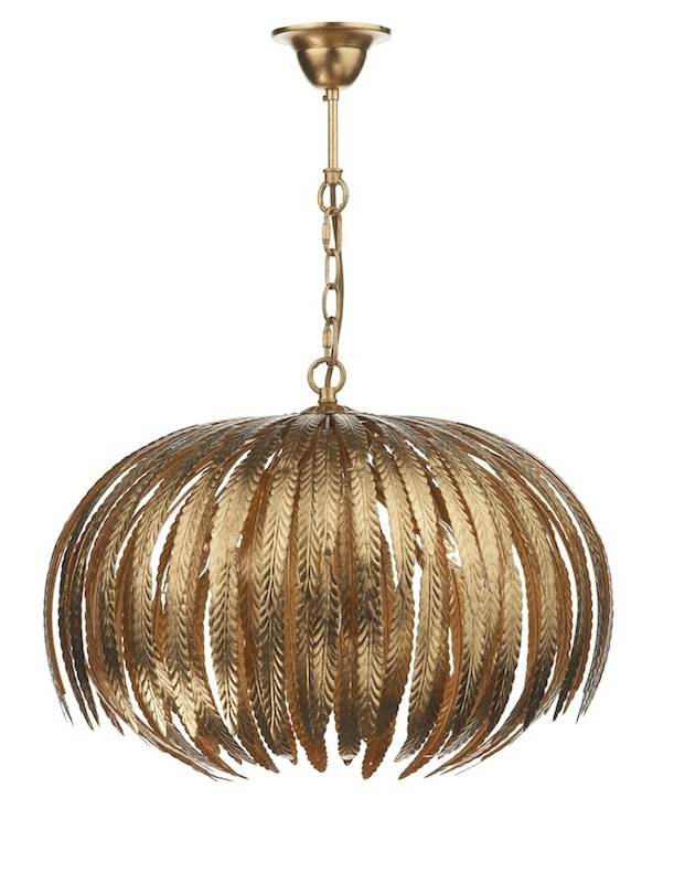 Well Known Babylon Gold Leaf Pendant For Gold Leaf Chandelier (View 10 of 10)