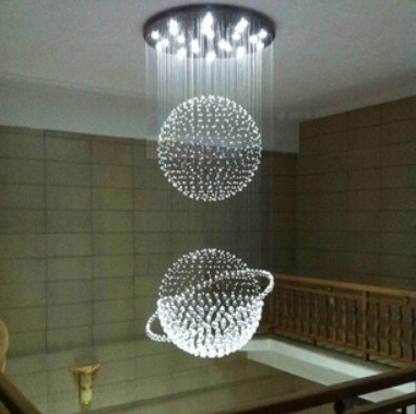 Well Known Best Modern Large Chandeliers Crystal Chandelier Stairwell Staircase Intended For Modern Large Chandeliers (View 2 of 10)