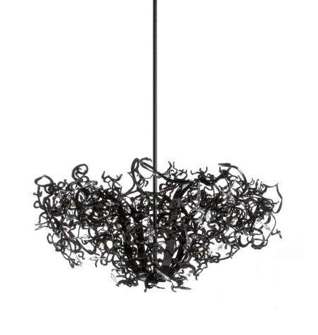 Well Known Black Contemporary Chandelier Throughout Contemporary Chandelier / Crystal / Steel / Incandescent – Icy Lady (View 10 of 10)