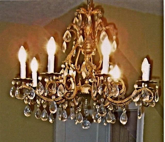 Well Known Brass Crystal Chandelier – Antique French Style Brass Chandelier Throughout Crystal And Brass Chandelier (View 7 of 10)