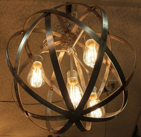 Well Known Chandelier: Astonishing Globe Chandeliers Shades For Chandelier Intended For Metal Ball Chandeliers (View 9 of 10)
