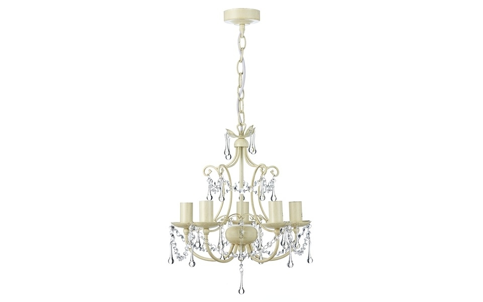 Well Known Chella Cream 5 Light Chandelier (View 9 of 10)