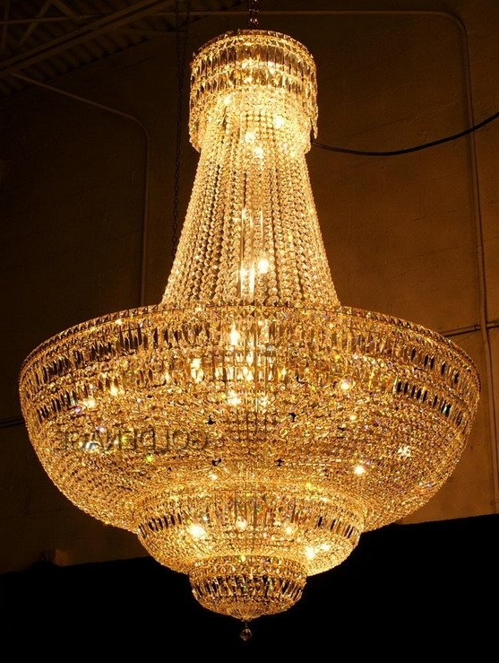 Well Known Crystal Gold Chandelier With Regard To How To Install A Chandelier – Lightingparadise, Miami (View 9 of 10)