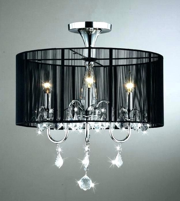 Well Known Crystal Lamp Shades For Chandeliers Multiple Chandelier Fabric Shade Inside Chandeliers With Black Shades (View 9 of 10)