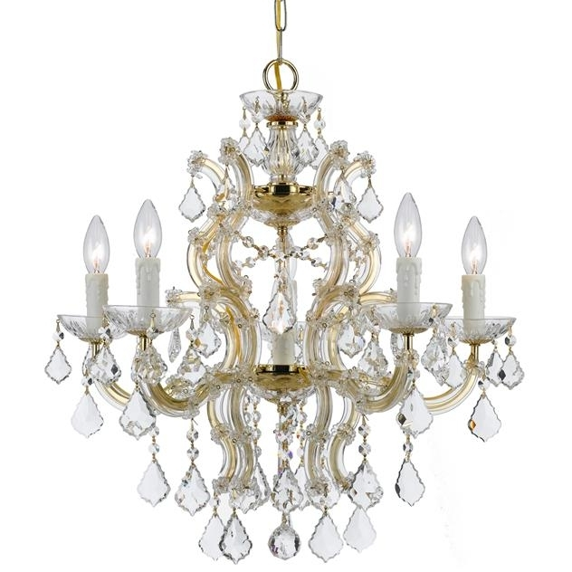Well Known Crystorama – Crystorama Maria Theresa 6 Light Crystal Gold Chandelier For Crystal Gold Chandelier (Gallery 3 of 10)