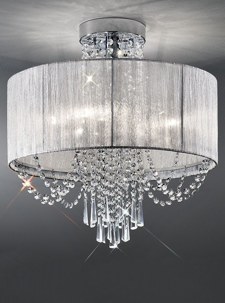 Well Known Franklite Empress 6 Light Semi Flush Crystal Ceiling Light Semi Inside Flush Chandelier Ceiling Lights (View 9 of 10)
