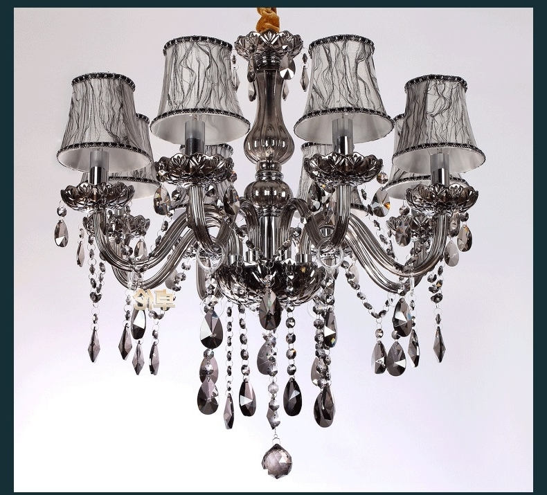 Well Known Free Shipping Chandelier Luxury Crystal Lighting Fashion Chandeliers In Grey Chandeliers (View 10 of 10)