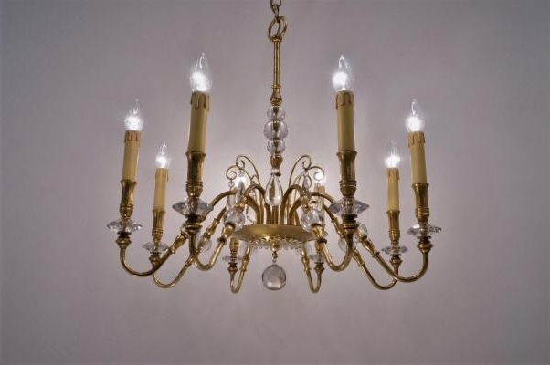 Well Known French Chandelier Within French Chandelier, 1940S For Sale At Pamono (View 10 of 10)
