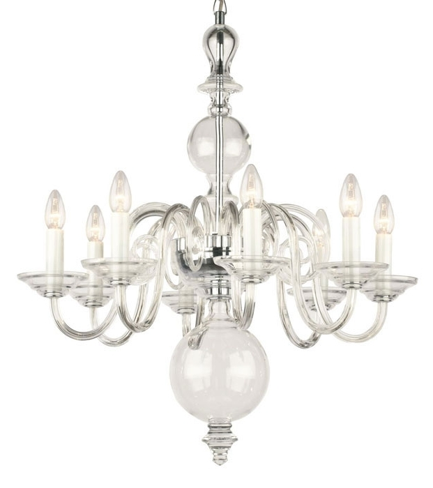 Well Known Home Design : Clear Glass Chandelier 16 Clear Glass Sphere With Regard To Clear Glass Chandeliers (View 10 of 10)