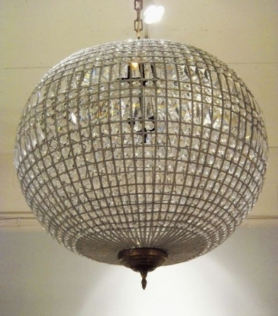 Well Known Home Design : Excellent Crystal Globe Chandelier Ball Pendant Light With Globe Crystal Chandelier (View 9 of 10)