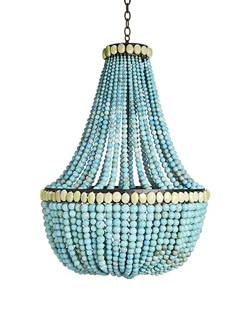 Well Known Home Design : Good Looking Beaded Chandelier Pendant Light Wooden With Turquoise Wood Bead Chandeliers (View 8 of 10)