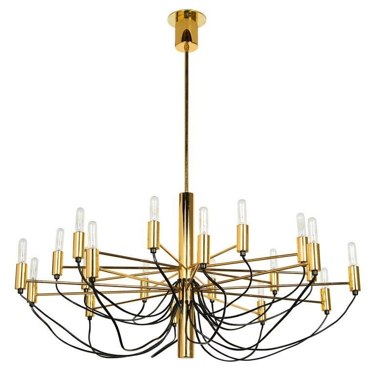 Well Known Italian Chandeliers Style In Italian Chandelier Style Of Gino Sarfatti (View 10 of 10)