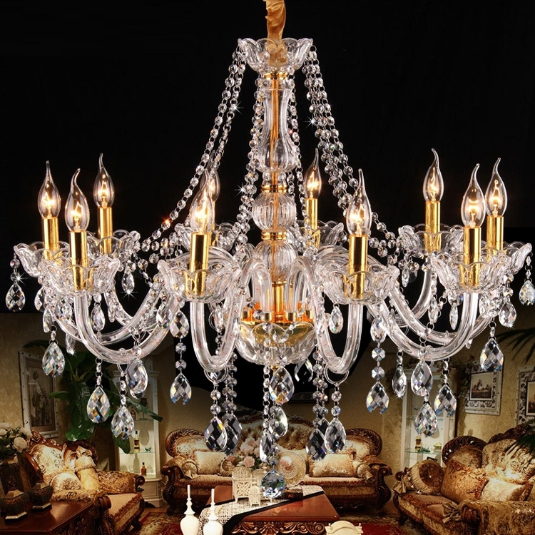 Well Known Italy Style Clear Glass Arm Chandelier 8/10 Pcs Led Gold Candle Throughout Vintage Italian Chandeliers (View 10 of 10)