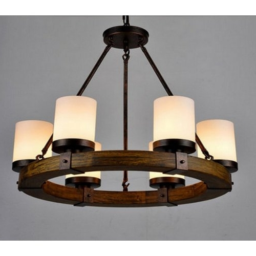Well Known Lightinthebox Vintage Old Wood Wooden Chandeliers Painting Finish Inside Wooden Chandeliers (View 5 of 10)
