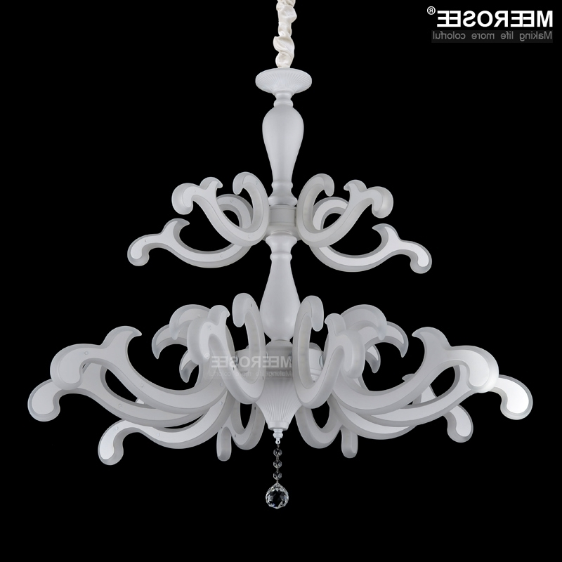 Well Known Modern Led Chandelier Lighting White Acrylic Led Hinging Lustre Lamp Regarding Acrylic Chandeliers (View 9 of 10)