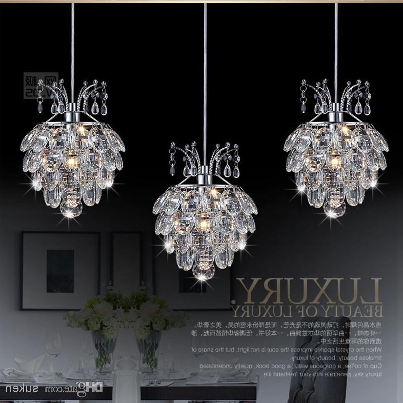 Well Known Modern Pendant Chandelier Lighting Inside Modern Crystal Chandelier Pendant Light Stair Hanging Light (View 10 of 10)