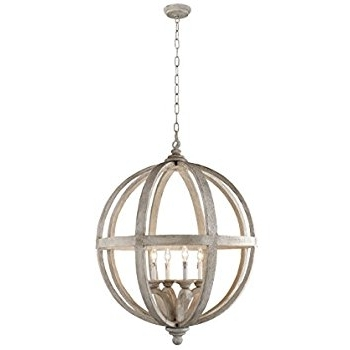 Well Known Orb Chandelier In Y Decor Lz3225 4 Modern, Transitional, Traditional 4 Light Wood Orb (View 9 of 10)