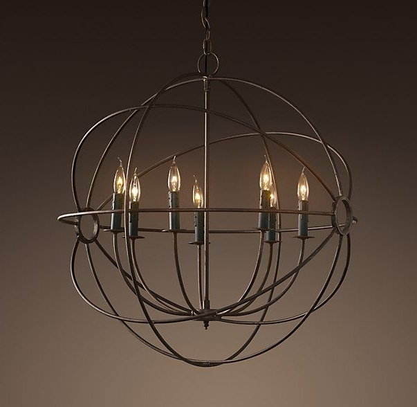 "Well Known Orb Chandelier Intended For Foucault's Orb Chandelier 32""diameter (View 10 of 10)"
