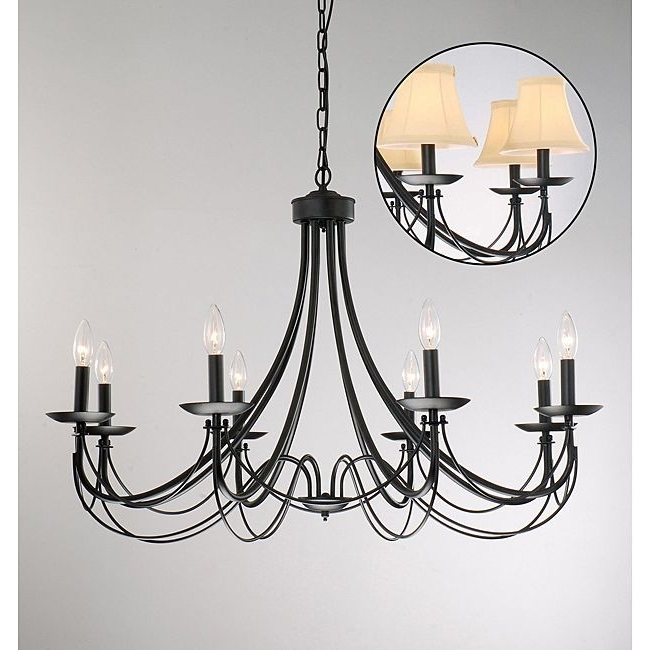 Well Known This Classic Black Iron Chandelier Features A Rustic, Hardy Design Regarding Black Iron Chandeliers (View 10 of 10)