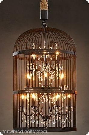 Well Known Turquoise Birdcage Chandeliers For Restoration Hardware Birdcage Chandelier The Thrifty Way! (View 9 of 10)